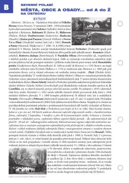 města, obce a osady... od a do Ž Byňov