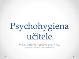 Psychohygiena učitele - Centrum pro rodinu Vega
