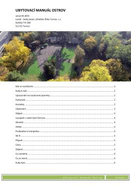 Manuál pro ubytování včetně detailních popisů