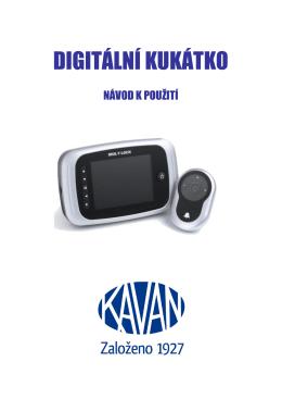 Digitální kukátko návod - Bezpečnostní dveře Kavan