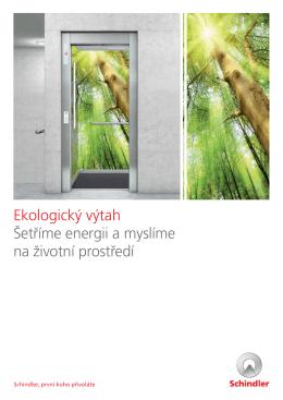 Ekologický výtah - brožura