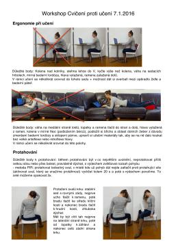 Workshop Cvičení proti učení 7.1.2016
