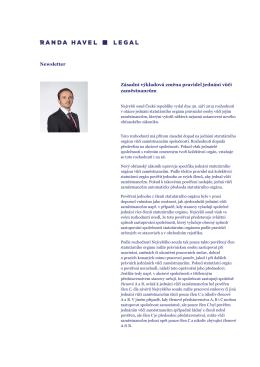Newsletter Zásadní výkladová změna pravidel jednání vůči