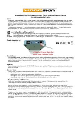 QIG rychlá uživatelská přiručka CZ klikněte zde.