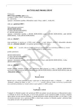 RUČITELSKÉ PROHLÁŠENÍ - eD` system Czech, as