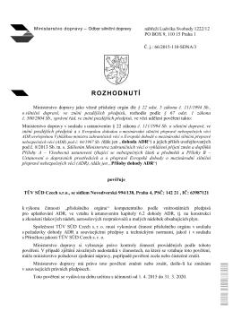 ROZHODNUTÍ - TÜV SÜD Czech