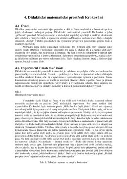 4. Didaktické matematické prostředí Krokování 4.1 Úvod - H-mat