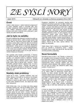 Nora 08/2015 - CSH spol. s r.o.