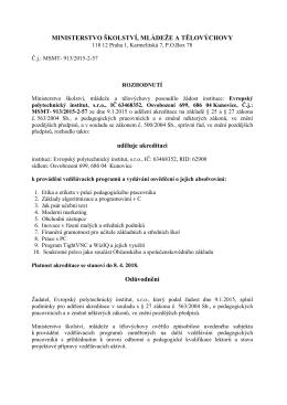 Akreditace kurzů - Evropský polytechnický institut, sro
