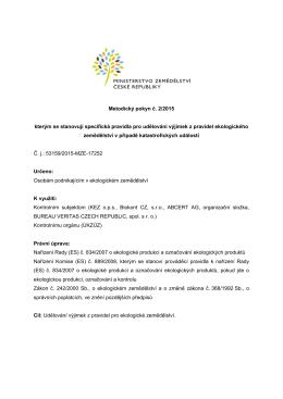 Metodický pokyn č. 2/2015