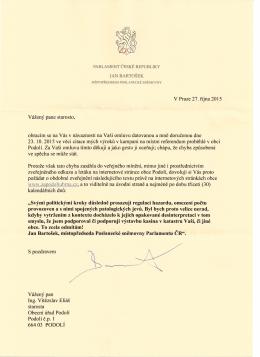 V Praze 27. rijna 2015 Vazeny pane starosto, obracim se na Vas v