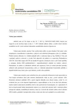 Vážený pan Ing. Marian Jurečka, ministr