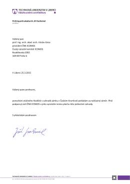 Vážený pan prof. Ing. arch. akad. arch. Václav Girsa