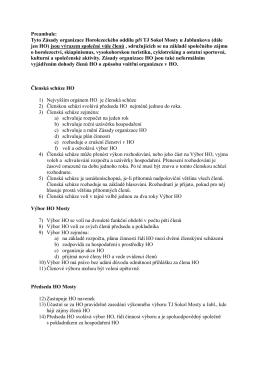 Tyto Zásady organizace Horolezeckého oddílu při TJ