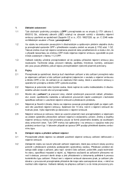 1. Základní ustanovení 1.1 Tyto obchodní podmínky