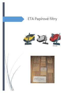 ETA Papírové filtry