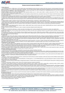 2. Všeobecné obchodní podmínky AVEMAR cz s.r.o