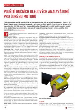 Použití ručních analyzátorů olejů