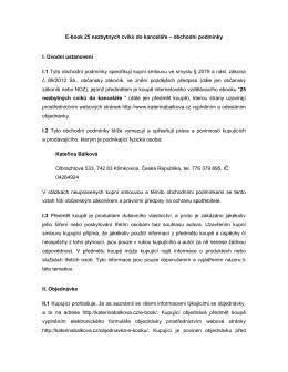 Obchodní podmínky - Mgr. Kateřina BÁLKOVÁ