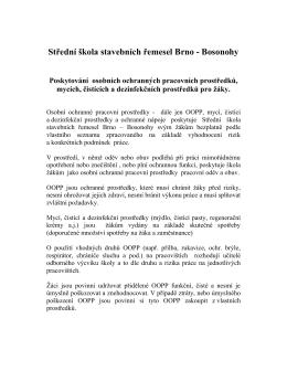 Směrnice o poskytování osobních ochranných prostředků