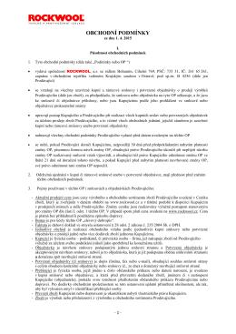 Obchodní podmínky platné od 1. 4. 2015