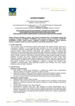 Licenční podmínky CODEXIS ACADEMIA