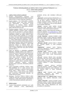 Stránka 1 (z 10) Všeobecné obchodní podmínky pro - MEDI