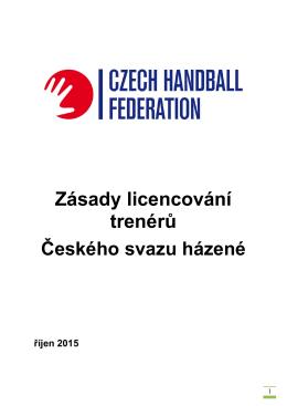 Zásady licencování trenérů říjen 2015