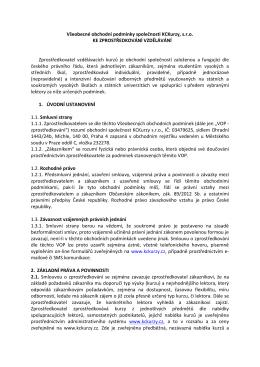 Všeobecné obchodní podmínky společnosti KCKurzy, s.r.o. KE