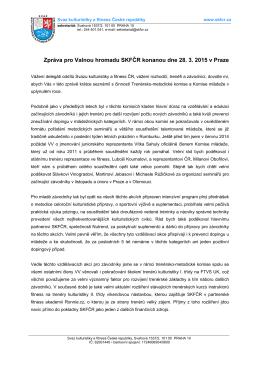 zpráva člena VV - Svaz kulturistiky a fitness ČR