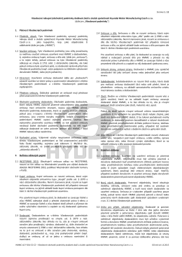 Nákupní podmínky - Hyundai Motor Manufacturing Czech