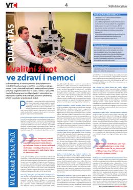 Kvalitní život ve zdraví i nemoci QU ALITAS - AV21