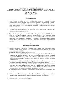 """(dále jen """"Pravidla"""") - Městská správa sociálních služeb Boskovice"""