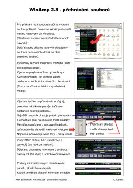 WinAmp 2.8 - přehrávání souborů