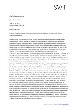 Písařovicova pracovna tisková zpráva pdf