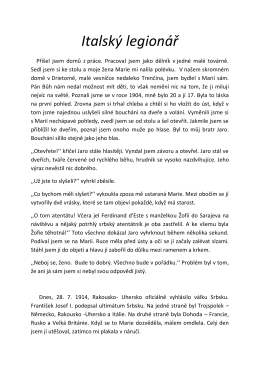 Italský legionář – 1. místo PDF