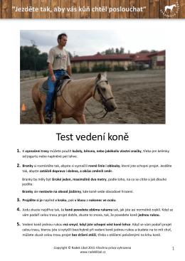 Test vedení koně
