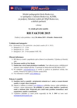 RH FAKTOR 2015 - RH Faktor 2014