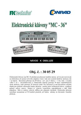 NÁVOD K OBSLUZE - ElektroEden.cz
