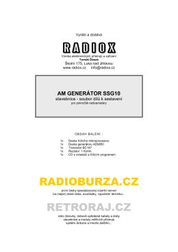 Návod k sestavení a obsluze (PDF - 0.6 MB)