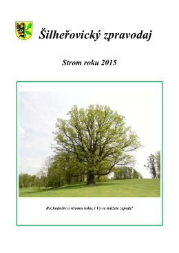 Šilheřovický zpravodaj Strom roku 2015