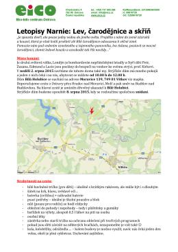 podrobné info k táboru