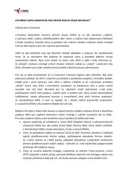 oslovit MMR ČR ohledně urychleného řešení