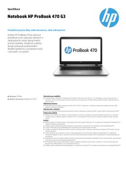 probook 470 G3 cz
