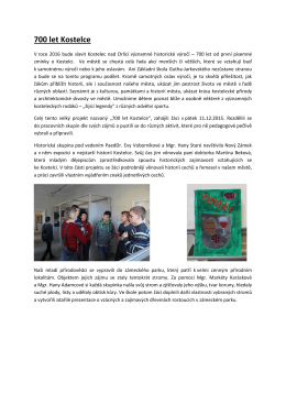 Zahájení celoročního projektu 700 let Kostelce