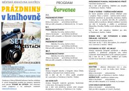 Červenec a Srpen - Městská knihovna Havířov