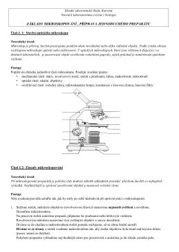 Zásady mikroskopování - Střední zdravotnická škola, Karviná
