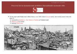 Pracovní list ke komentované prohlídce Staroměstské mostecké věže