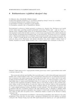 8 Rubinowiczovo vyjádření okrajové vlny