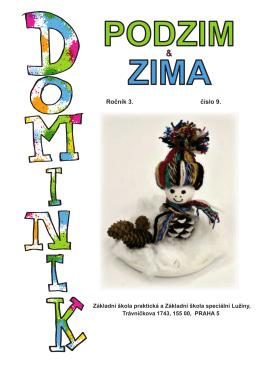 Školní časopis Dominik číslo 9, ročník 3